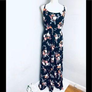 Torrid floral maxi sun dress ruffled new size 1X